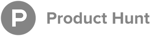 Product hunt logo horizontal grey